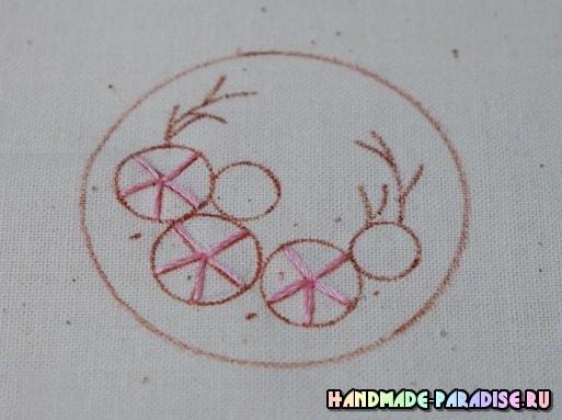 Броши с вышивкой лентами своими руками (7)