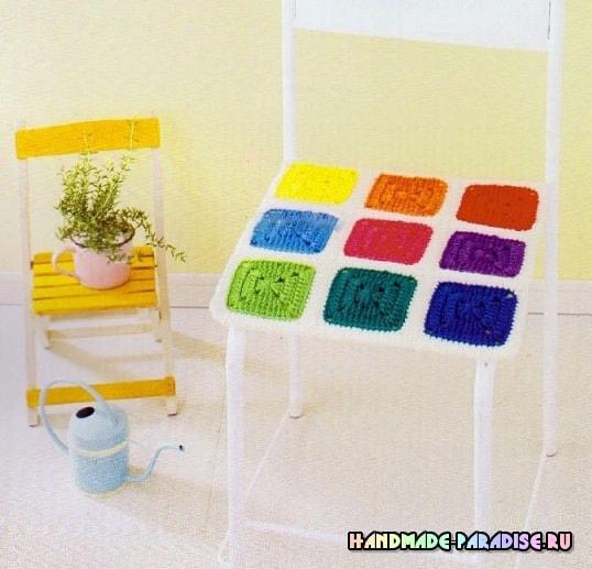 Декоративные сидушки для стула крючком. Схемы (2)