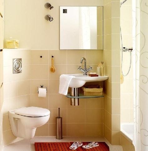 Дизайн небольшой ванной комнаты (3)