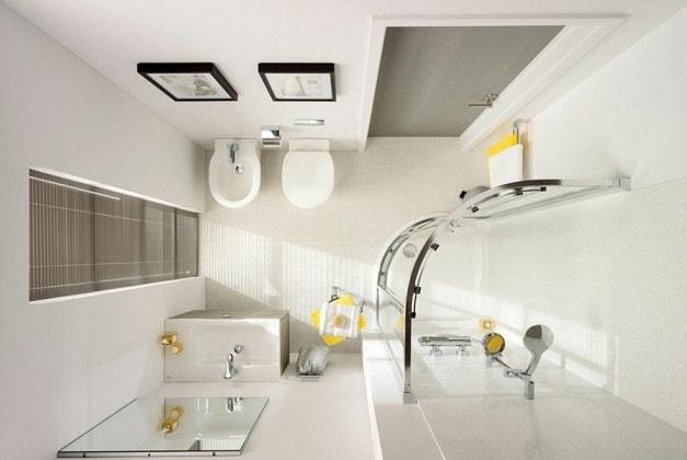 Дизайн небольшой ванной комнаты (6)