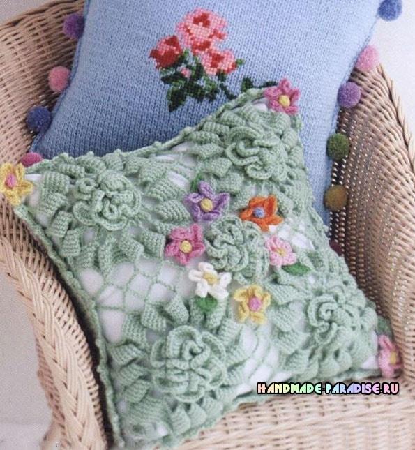 Интерьерные подушки крючком. Схемы (2)