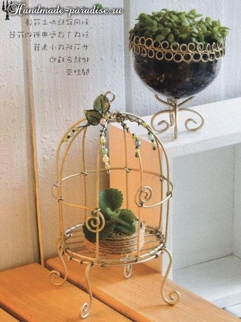 Из проволоки. Декоративные клетки для птичек (2)
