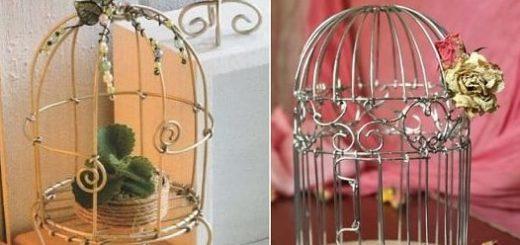Из проволоки. Декоративные клетки для птичек