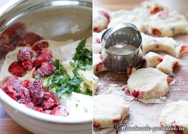 Клубничное печенье с базиликом. Рецепт