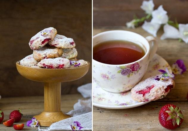 Клубничное печенье с базиликом. Рецепт (2)