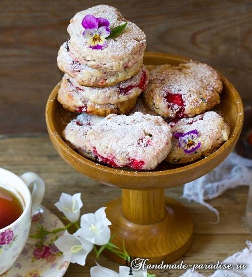 Клубничное печенье с базиликом. Рецепт (3)