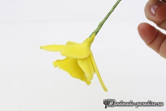 Нарциссы из холодного фарфора (9)
