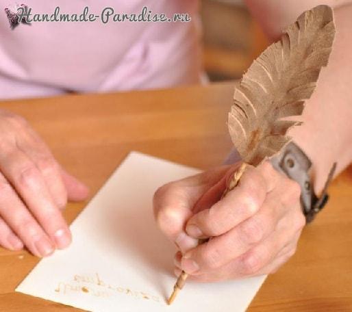 Пишущее перо и чернила своими руками (16)