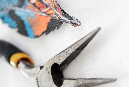 Подвеска с перьями ручной работы (9)