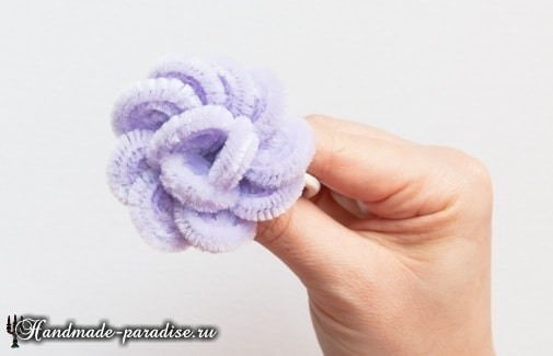 Розы из синельной проволоки (11)