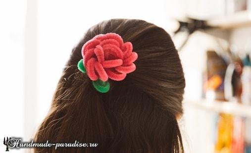 Розы из синельной проволоки (15)