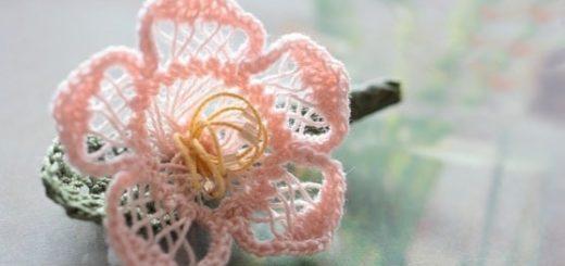 Цветы крючком. Вязание на вилке