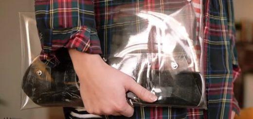 Прозрачный клатч из полиэтилена своими руками