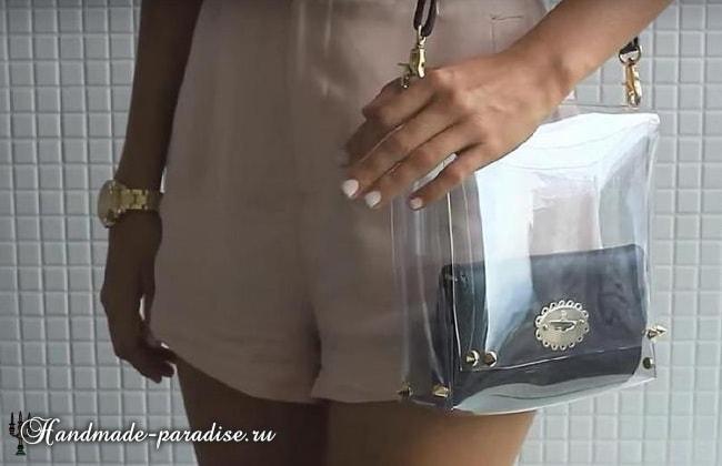 Стильная сумочка из полиэтилена своими руками (3)