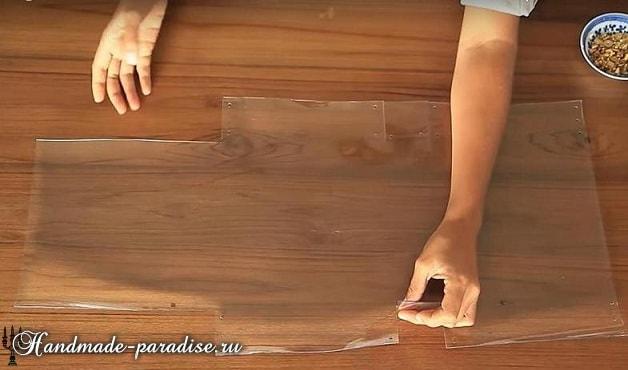 Стильная сумочка из полиэтилена своими руками (4)