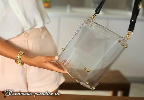Стильная сумочка из полиэтилена своими руками