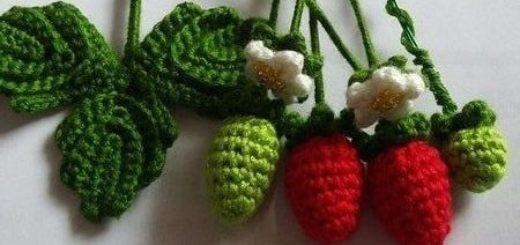 Цветущая клубника крючком. Схемы