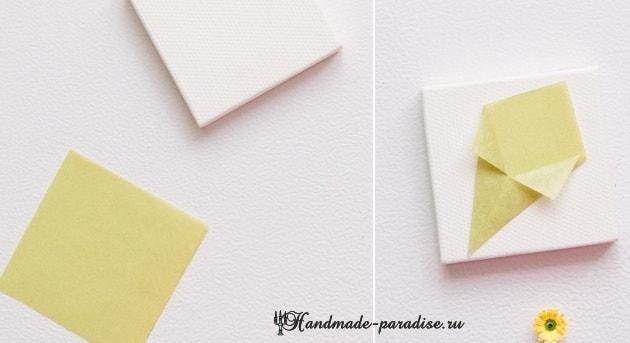 Миниатюрный букетик цветов в технике квиллинг (11)