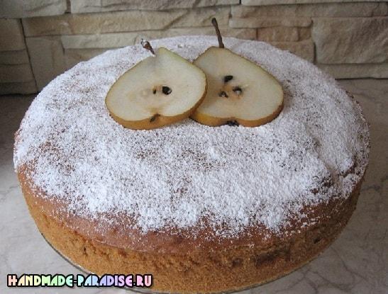Рецепт грушевого пирога (5)