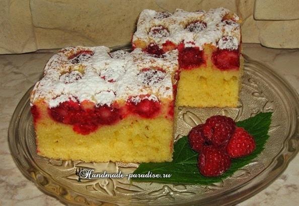 Рецепт малинового пирога