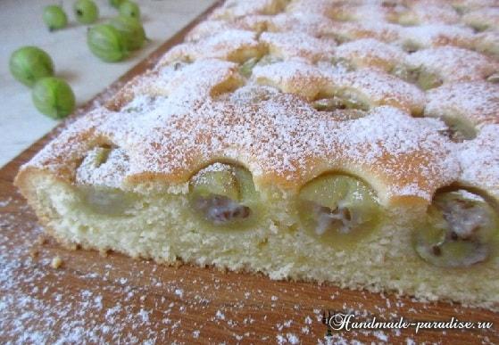 Рецепт сладкого пирога с крыжовником (4)