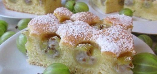 Рецепт сладкого пирога с крыжовником