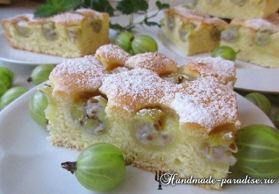 Рецепт сладкого пирога с крыжовником (5)