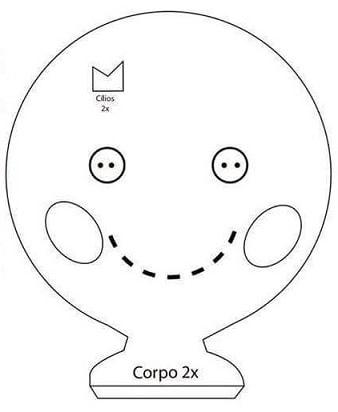 Шьем куколку из фетра. Выкройка (3)