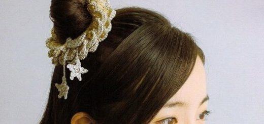 Вязание крючком резинки для волос. Схемы