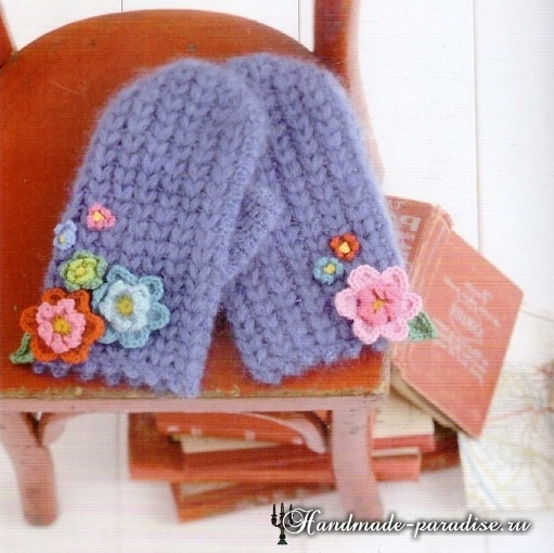 Вязание крючком шляпки с розами (3)