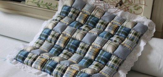 Как сшить мягкую подушку для стула (15)