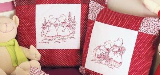 Пастушки на подушках. Шаблоны для росписи