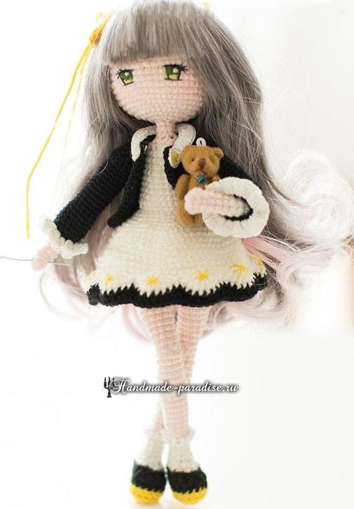 Вяжем крючком куколку амигуруми