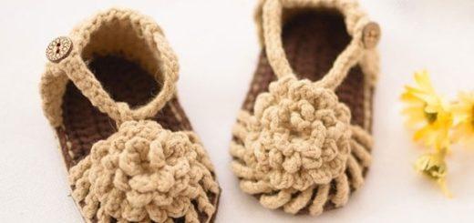 Детские сандалии крючком. Схема