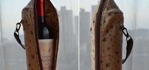 Как сшить сумочку для бутылки