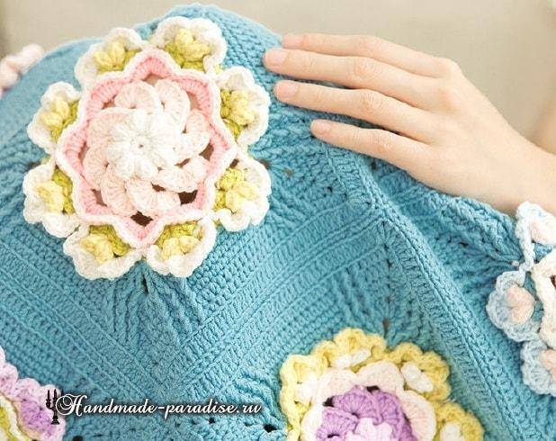Crochet a cuadros con grandes colores volumétricos