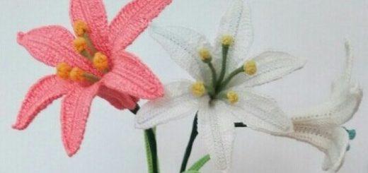 Цветы крючком. ЛИЛИЯ