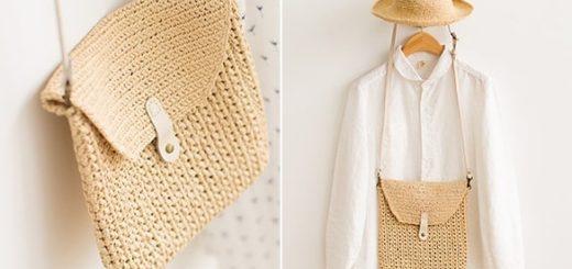Вязание крючком молодежной сумки через плечо