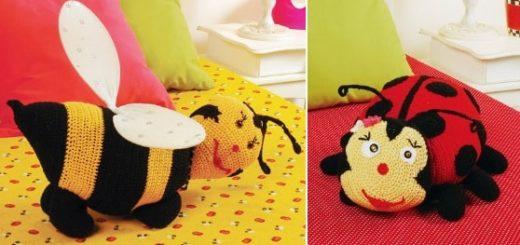 Детские подушки крючком. Схемы