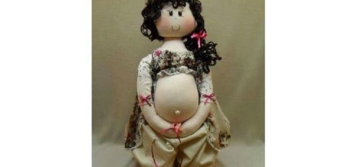 Кукла в интересном положении. Выкройка