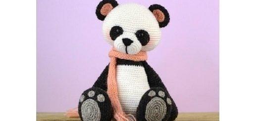 Медведь панда крючком. Вяжем игрушку