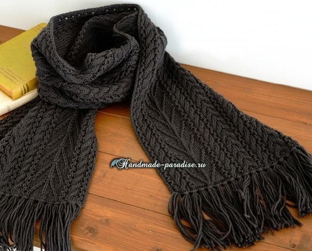 Вязание оригинальные мужские шарфы