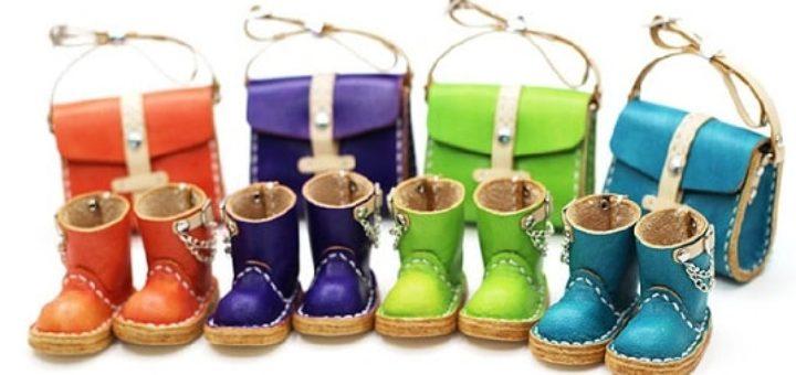Обувь и сумки из кожи для кукол. Шаблоны
