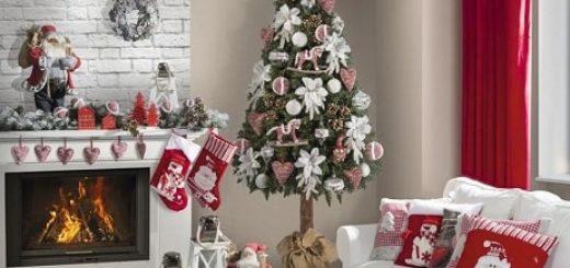 Рождественский дизайн интерьера. 20 фото