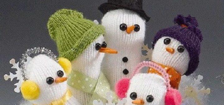 Снеговики из перчатки