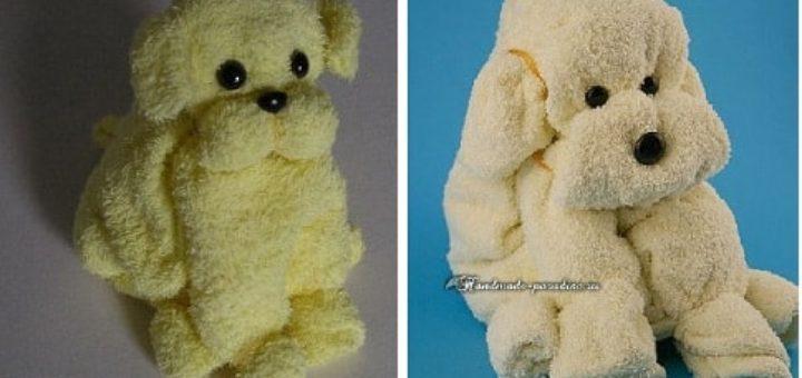 Собачка - подарок из полотенца