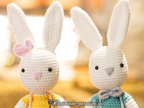 Вяжем крючком ушастых зайцев и кроликов