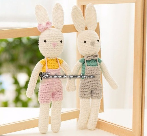 Вяжем крючком ушастых зайцев и кроликов -2