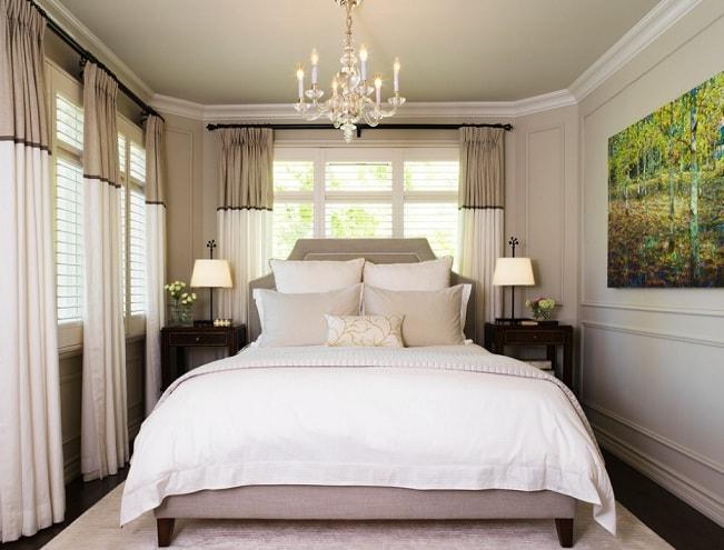 Как визуально увеличить спальню (2)