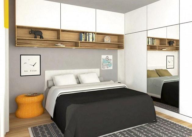 Как визуально увеличить спальню (3)